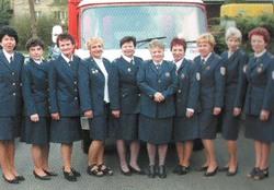 Hasičské družstvo žen - rok 2001